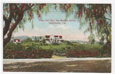 Vista Del Mar Bartlett Home Hollywood California 1910c postcard