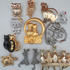 Vintage Gold Silver Tone Animal Jewelry Brooch Pins Lot  Coro JJ Avon Wild Bryde