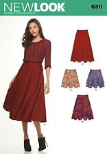 NEW LOOK SEWING PATTERN MISSES' FLARED SKIRT 3 LENGTHS SIZE 8 - 20 6311