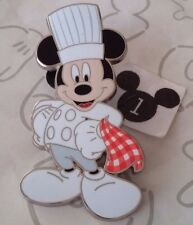 Mickey Mouse Dressed as Pastry Chef Hat Holding Towel Tokyo Disney Resort Pin