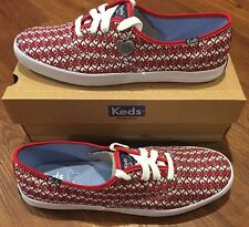 Taylor Swift Keds Red Guitars Sneakers Sz. 9.5 NEW