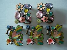2 Hole Slider Beads Butterflies & Flowers Pastel Mix Made/Swarovski Elements #5