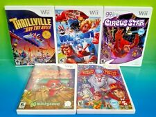 Wipeout, Circus Star, Thrillville, Ringling Bros, Circus - 5 Nintendo Wii Games