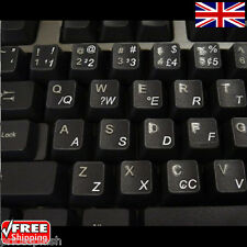 Portuguese Brazilian Transparent Keyboard Stickers and White Letters for Laptop
