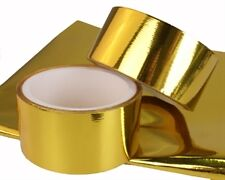 """TRS Gold Reflective Heat Protection Tape 50mm x 4.5M Roll (2"""" Inch x 15' FT)"""
