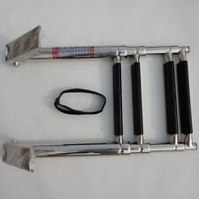 4 Step Stainless Steel Telescoping Marine Boat Ladder Over Platform Newly