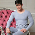 New Men's Thermal Underwear Crew Neck Long Johns Top Bottom Trousers Warm Sets