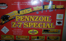 HO  SCALE MODEL POWER PENNZOIL Z-7 SPECIAL 7 PC 2 TRACK TRAIN SET #1300