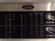 Ford 4000 In KMH Tractor Genuine Gear Change Decal