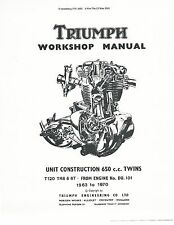 Triumph workshop service manual 1968, 1969 & 1970 TROPHY TR6C