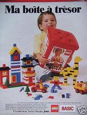 PUBLICITÉ 1998 LEGO MA BOITE A TRÉSOR NOUVEAU JOUET CHAQUE JOUR - ADVERTISING