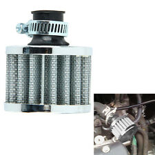 12mm Car Motor Cold Air Intake Filter Turbo Vent Crankcase Breather Sliver W