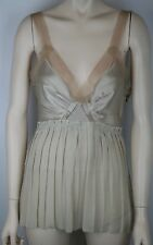 LANVIN CHAMPAGNE BEIGE NUDE SILK CAMISOLE TOP BLOUSE SIZE 38, JUST GORGEOUS!
