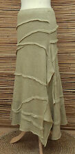 *ZUZA BART*DESIGN BEAUTIFUL100%  LINEN LAGENLOOK LAYERING SKIRT*SAND* Size L-XL