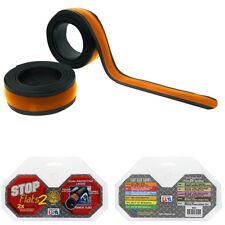 "STOP FLATS V2---27"" X 1""--700 X 23/25C ORANGE BICYCLE TIRE LINERS--ROAD FIXIE"