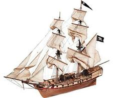 "Beautiful, brand new wooden model ship kit by OcCre: the ""Corsair"""