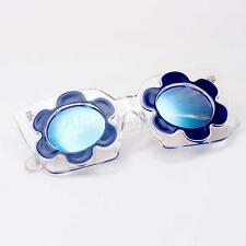 Fashion New Women Retro Shades Blue Mirrored Flower Eyeglasses Sunglasses