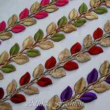 Royal Leaves --- Cotton Silk Embroidered Trim *1/2 yard* *Home decor* *Costumes*