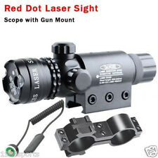 New RED DOT SIGHT/RED LASER +QD MOUNT 20mm Rail For Scopes W/ Switch #18