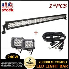 42inch 240W LED Combo Light Bar for Offroad UTB 4X4 With 2X 18W SPOT Wiring Kit