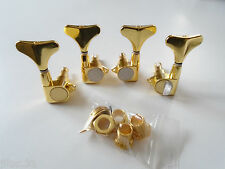 NEW 4 MACHINE HEADS 2x2 Jazz bass or Precision Bass - gold - for Bass