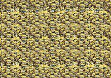 MINION STICKERBOMB SHEET (CAST/WRAP)@1m X 1m (DESPICABLE ME/KIDS/CARTOON)COLOUR