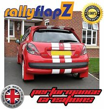 Rally style Mudflaps to fit PEUGEOT 207 Mud Flaps Qty4 rallyflapZ (4mm PVC) Red