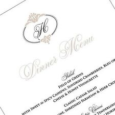 Wedding Menu Cards - Personalized with Monogram - Sets of 10