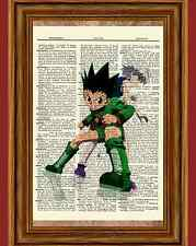 Hunter X Hunter Anime Dictionary Art Print Poster Picture Gon and Killua