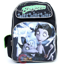 "Frankenweenie Sparky and victor Large school backpack 16"" Book Bag -Electrifying"