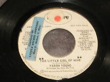 Faron Young, This Little Girl Of Mine/It Hurts So Good  PROMO