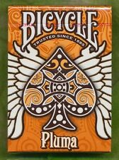 Bicycle Pluma Orange Deck Playing Cards USPCC Rare New