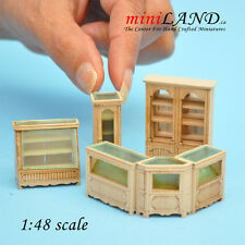 1:48 Scale store shop counters and shelves 6pcs UNPAINTED - Top Quality 1/48