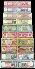 Full Set of 10Pcs Afghanistan 1+2+5+10+50+100+500+1000+5000+10000 Afghanis UNC