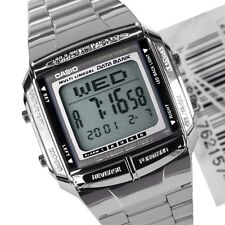 Casio Mens Watch LCD Digital Stainless Steel Data Bank  DB-360-1A. YTBV
