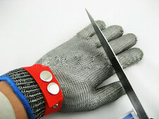 Metal Mesh Wire Butcher Glove Safety Cut Proof Stab Resistant Stainless Steel