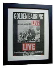 GOLDEN EARRING+Live+Radar Love+POSTER+AD+FRAMED+ORIGINAL 1977+FAST GLOBAL SHIP