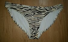 Gorgus cream brown tiger striped F+F bikini bottoms size 14