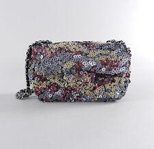 Chanel 2013 P Pre-collection Sequin Mini Flap Bag - Silver, Fuchsia, Bronze