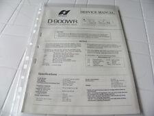 Sansui Factory Original Service Manual D-900WR Stereo Cassette Deck