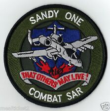 USAF SANDY ONE COMBAT SAR - THAT OTHERS MAY LIVE - PJ'S MILITARY PATCH - MINT *