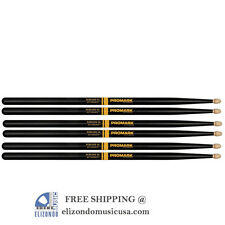 Pro-Mark R5AAG Activegrip 5A Drum Sticks Black 3 Pairs
