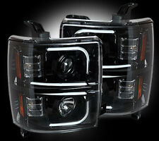 RECON Smoked Projector Headlight 2015-2016 Chevy Silverado 2500/3500 HD