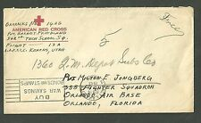 1943 WWII American Red Cross Cover Army Airforce Sent From Utah to Florida