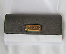 Marc By Marc Jacobs Long Trifold Wallet Too Hot Faded Aluminum NEW $198 retail