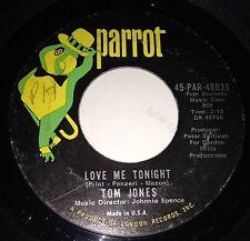 Tom Jones 45 Love Me Tonight / Hide And Seek