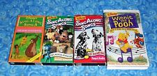 Disney Sing Along Songs Lot of 4 VHS Video Tapes in Excellent Tested Condition