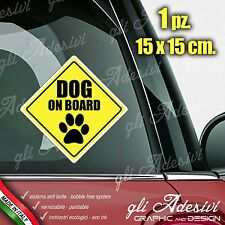 Adesivo Stickers Auto Moto Camper DOG ON BOARD segnale a bordo Zampa