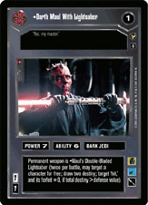 Darth Maul With Lightsaber [Near Mint/Mint] THEED PALACE star wars ccg swccg
