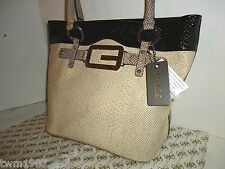 """NWOT~100% Authentic GUESS """"WESTERN"""" purse Ladies hand bag STONE MULTI"""